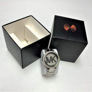 Michael Kors SS Logo Glitz Watch